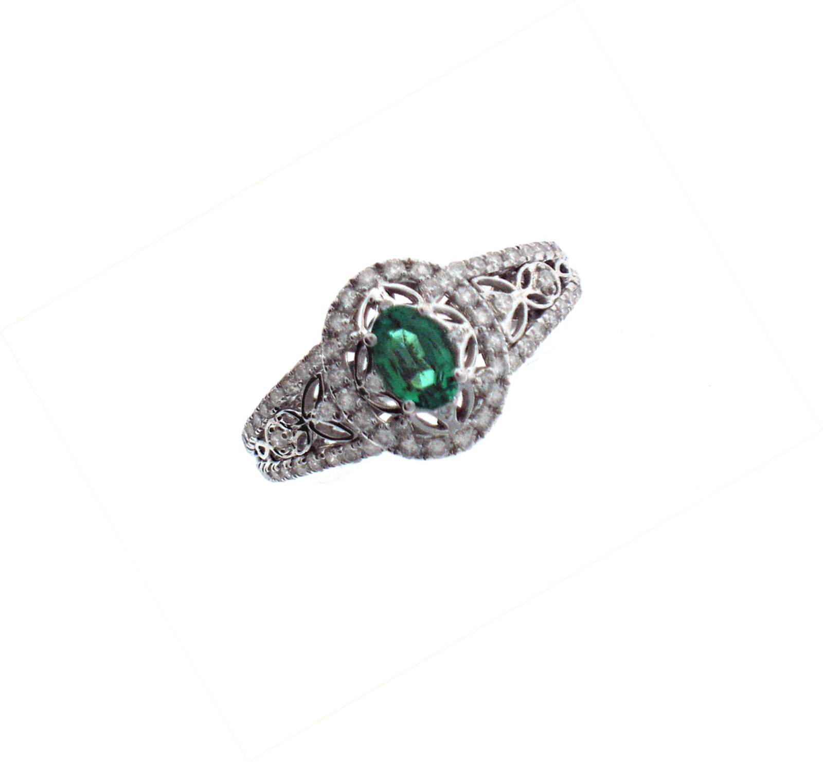 emerald and filigree ring